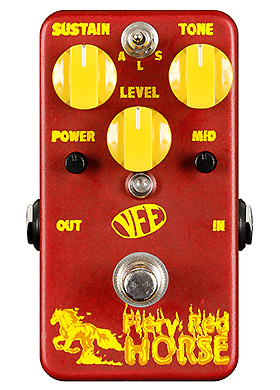 VFE Pedals Fiery Red Horse Saturated & Starved Fuzz 브이에프이 파이어리 레드 호어스 새처레이티드 스타브드 퍼즈